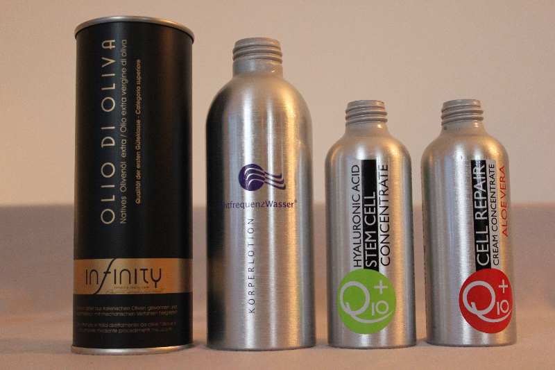 Kosmetik-Flaschen in Siebdruck