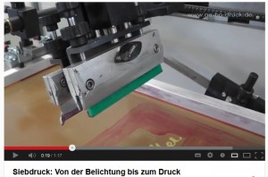 Siebdruck im Video